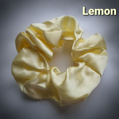 Lemon Satin Scrunchie